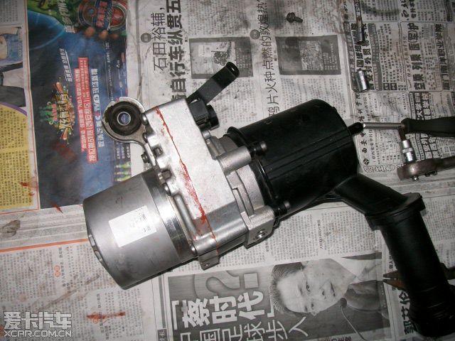 标致307电子助力泵漏油维修图片 标致论坛 xcar 爱卡汽车俱乐部高清图片