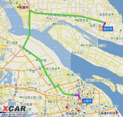 2公里 10 从出口离开,朝南通方向,转启东