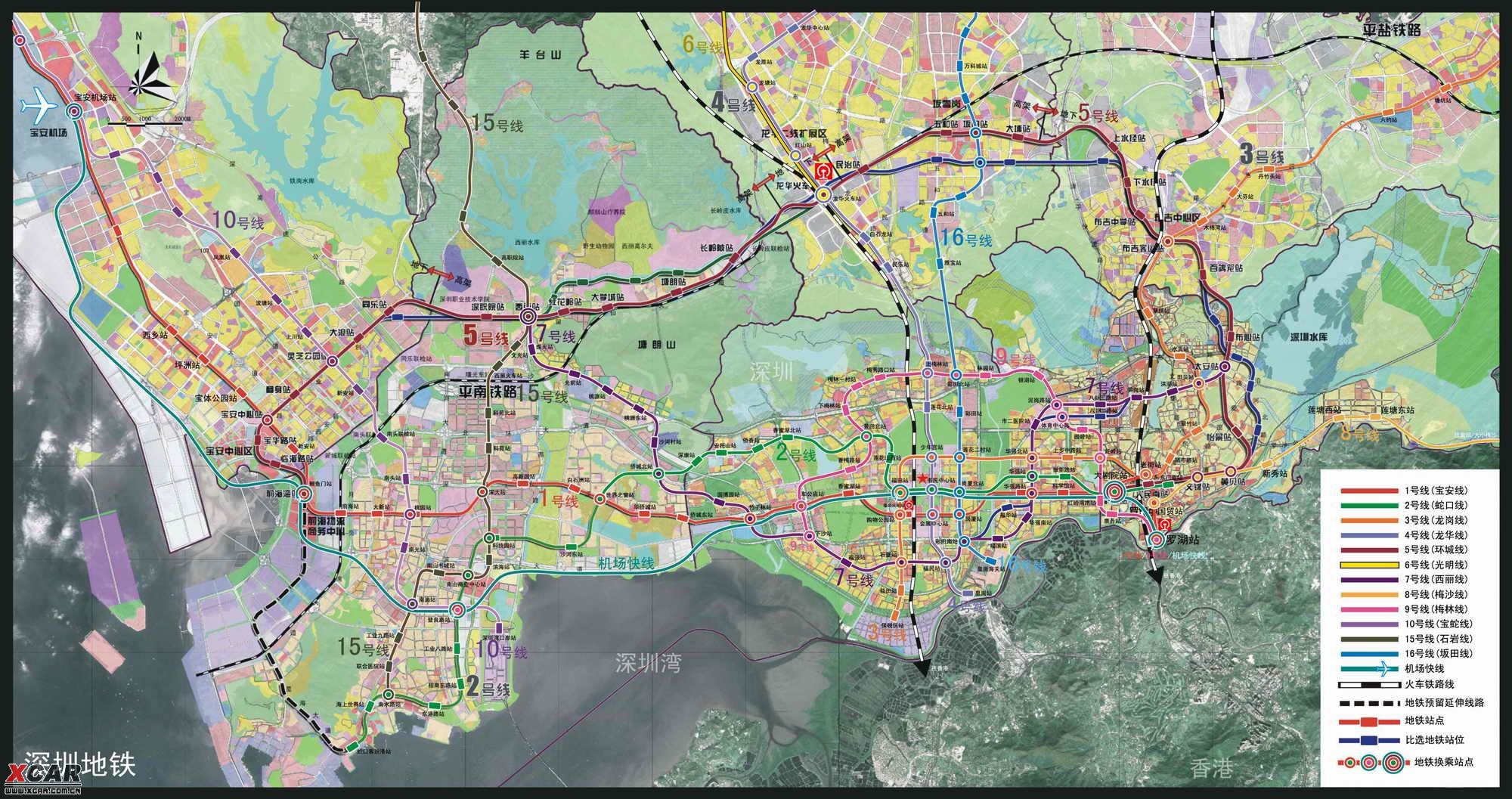 深圳地铁规划图2020终极版