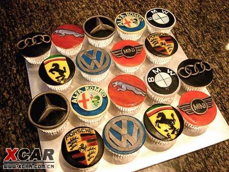 超可爱的汽车蛋糕