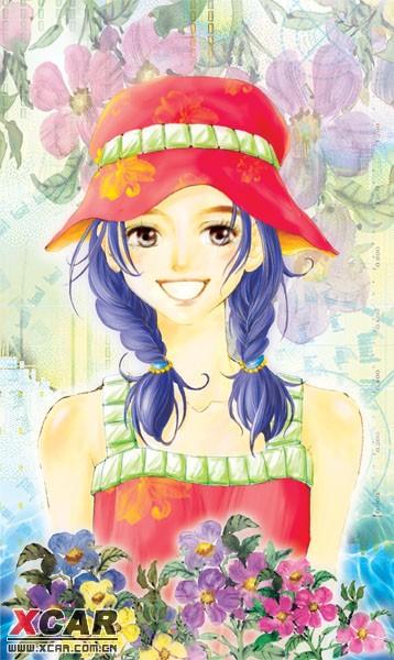 你如花的笑靥 是我心中盛开的蔷薇       轻舞的云鬓 是你青春的