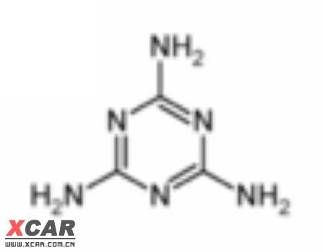 三聚氰胺分子结构式