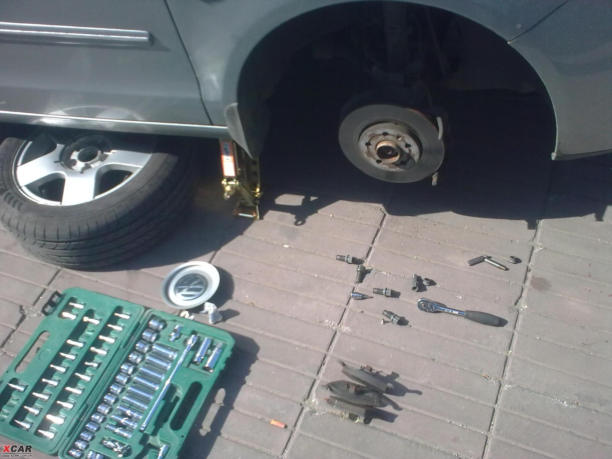 自助维护刹车系统消除刹车噪音详细图片作业