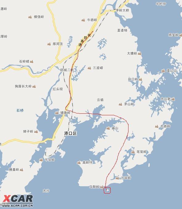 蝴蝶岛的路线图