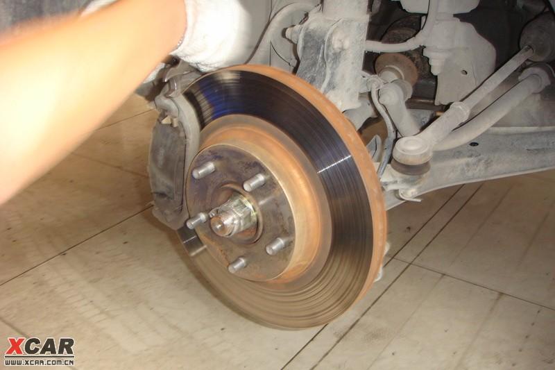 【精华】更换trw刹车盘片,右半轴作业_帕萨特论坛|帕