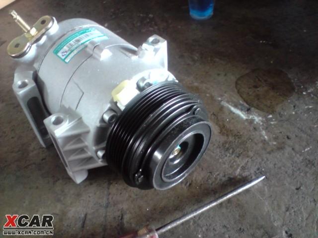 君越3.0空调泵卡死及维修过程(有图有真相)!图片