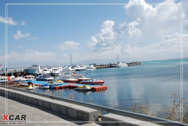 二郎剑码头,从这里坐船去湖心岛,沙湖岛,鸟岛.