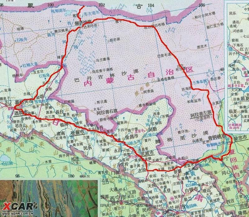 每年的十月,来自全国各地的游客,都会涌向内蒙古额济纳旗,为的就是能欣赏到最美的深秋胡杨林风光。计划了近两个月的自驾之旅,终于在10月初得以顺利成行。  路书如下: 第一天 银川-阿拉善左旗-苏海图-乌力吉-额济纳(750KM) 第二天 额济纳-神树-居延海-策克口岸-怪树林-黑城-额济纳(160KM) 第三天 额济纳-巴丹吉林沙漠公园-胡杨林景区-额济纳(80KM ) 第四天 额济纳-嘉峪关-酒泉(440KM) 第五天 酒泉-武威-古浪-沙坡头-中卫-银川(957KM) 第六天 银川-西部影视城(5KM