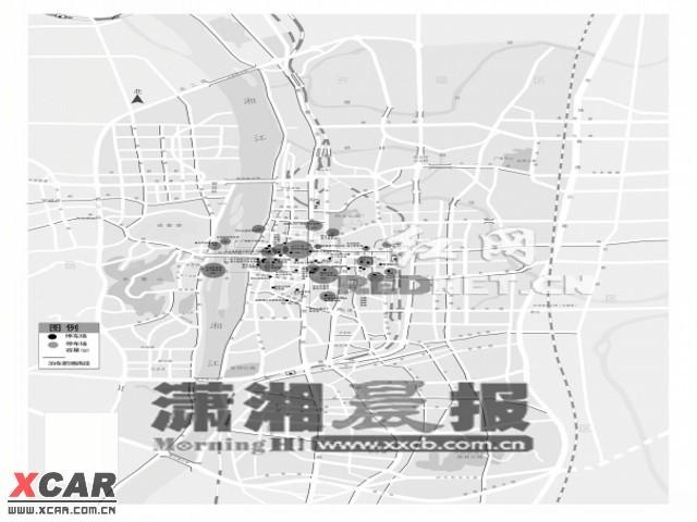 长沙市免费停车场地图