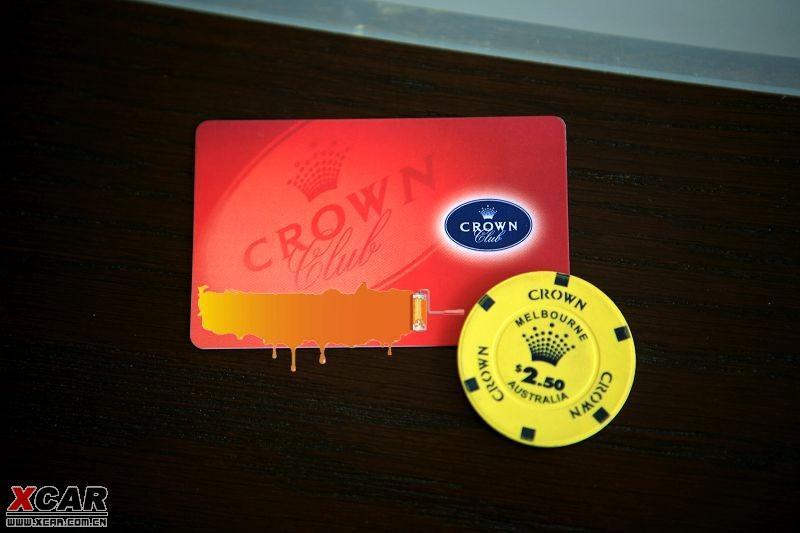 墨尔本皇冠赌场筹码及会员卡