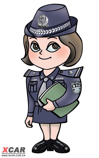 其实成都漫画警察多可爱的两图卡通人图片
