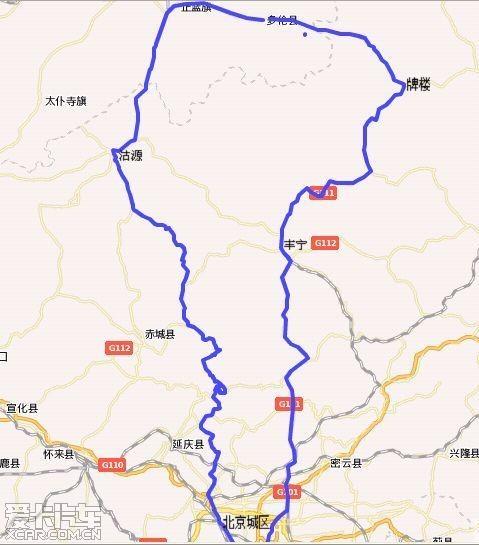 北京-沽源-正蓝旗-多伦-蔡木山
