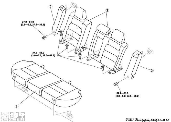 后排座椅的拆卸方法高清图片