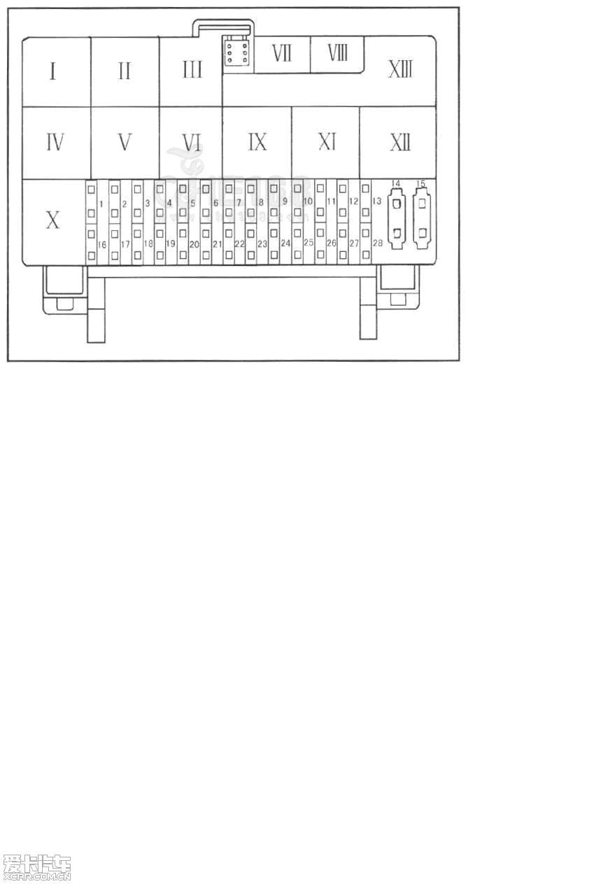 赛欧保险丝盒上排右边的第一和第二个是什么?