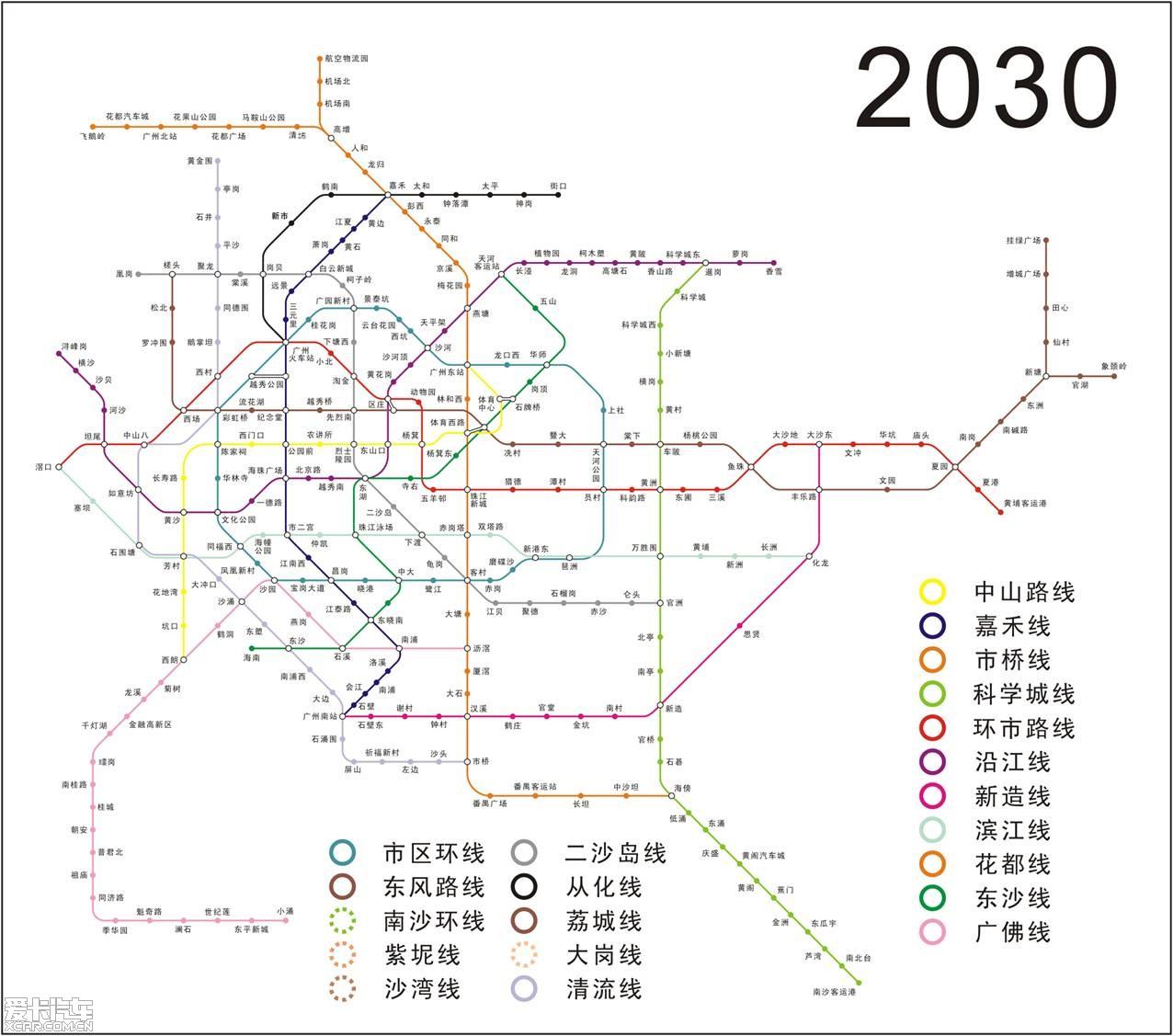 广州地铁线路图规划图片