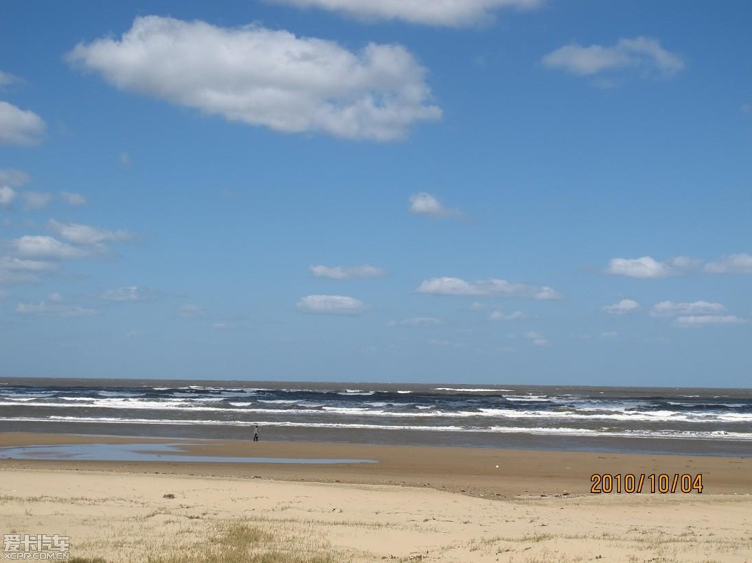 美丽的烟台金沙滩海滨公园