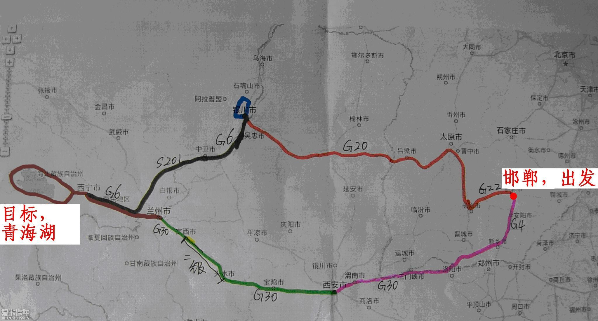 2010国庆6天4000公里游记,邯郸-银川(贺兰山等)-西宁(青海湖等)-兰州