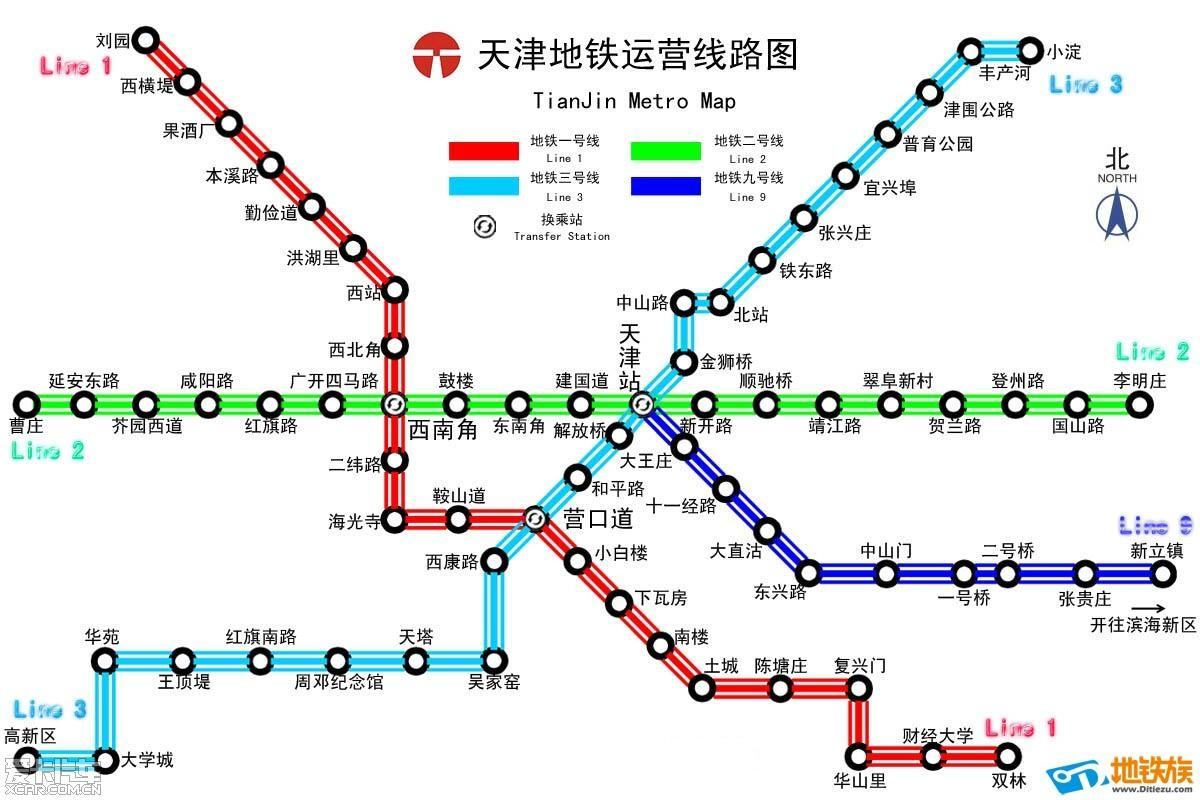 天津地铁线路图在哪里图片
