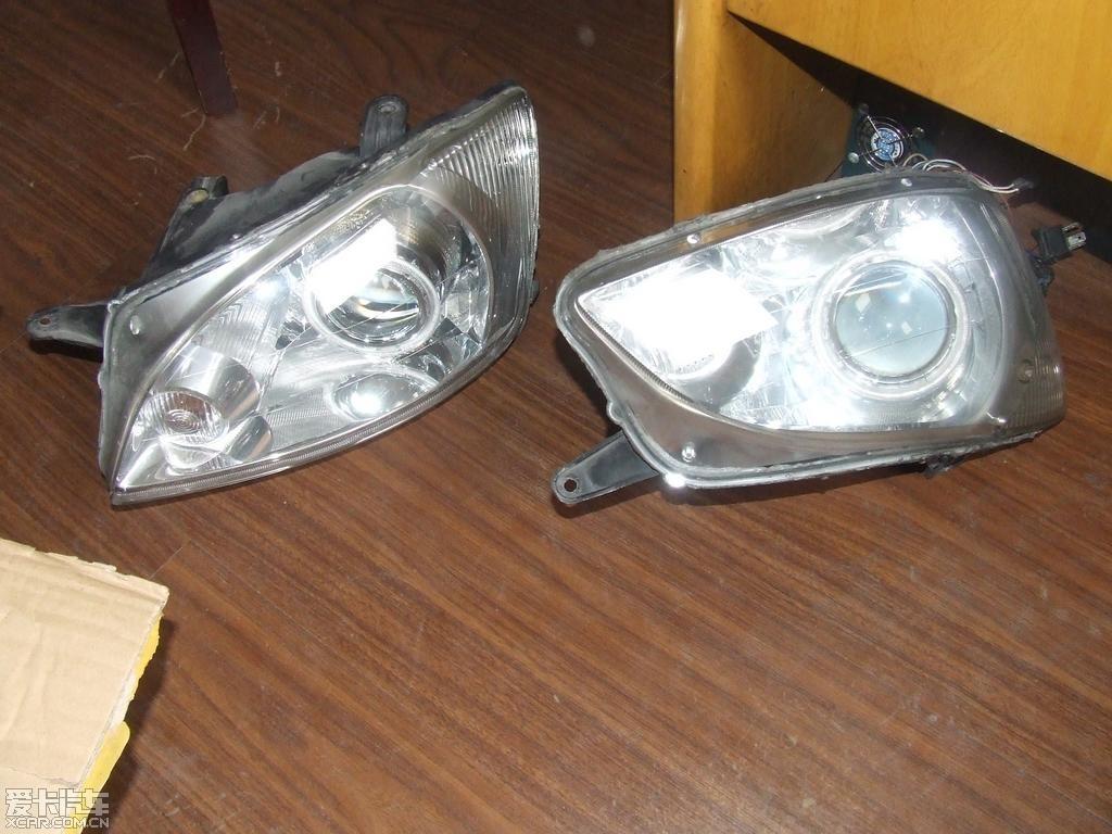 借宝地出一对老款雪佛兰赛欧的改装大灯高清图片