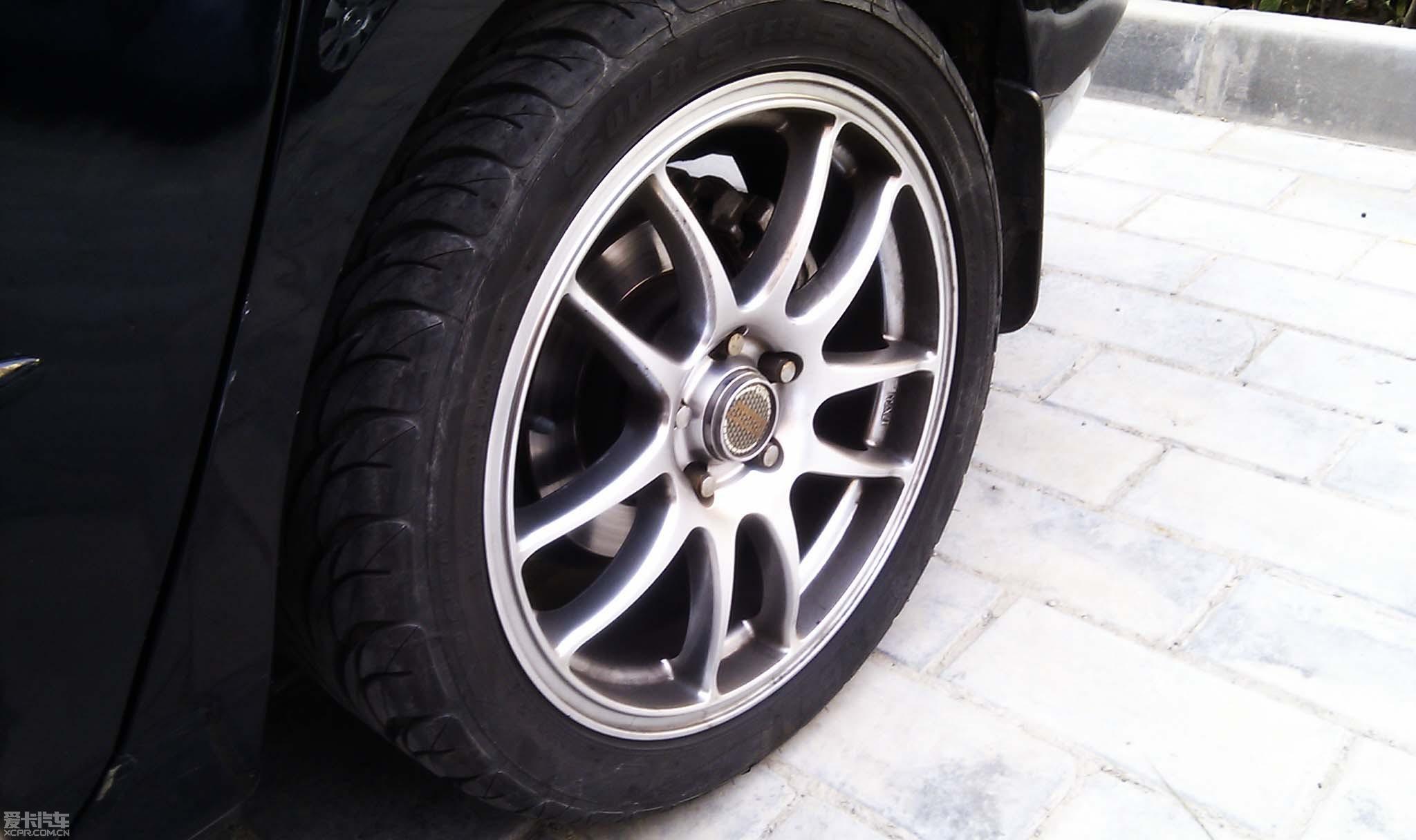 99新超帅的改装马自达三17寸轮毂轮胎全套转让高清图片