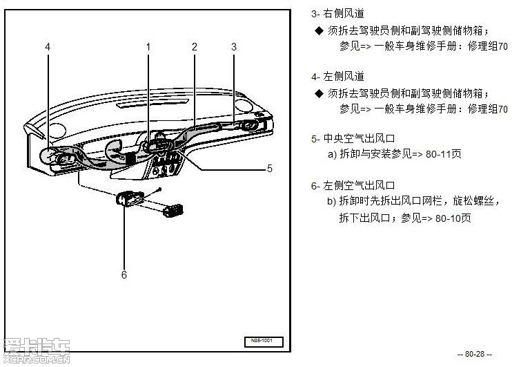 求助桑塔纳2000的仪表台风道结构图(急)