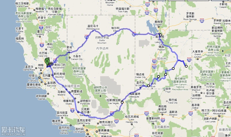 美国西海岸 大峡谷自驾游