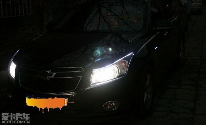 改装车大灯 奥迪q5透镜 效果一流 晚上效果来啦