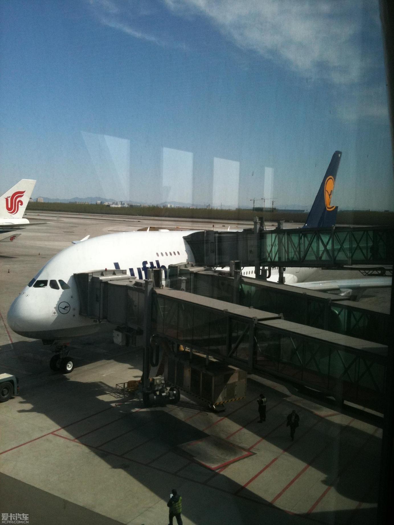 汉莎 阿联酋 空客a380--世界最大飞机--公务舱体验