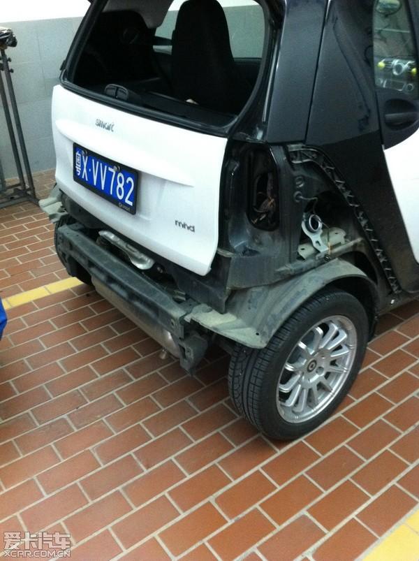 学习smart如何更换后叶子板._爱卡汽车图片