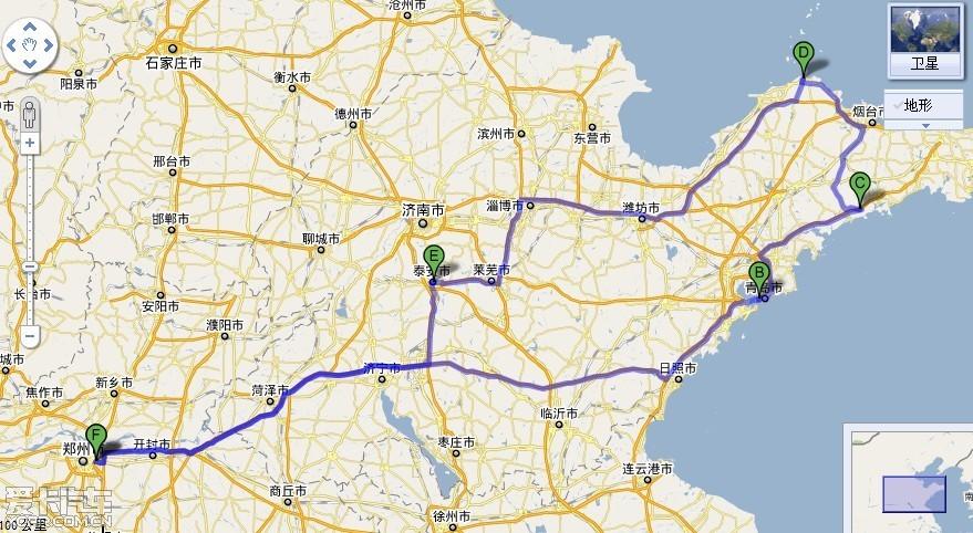 青岛到泰安地图全图