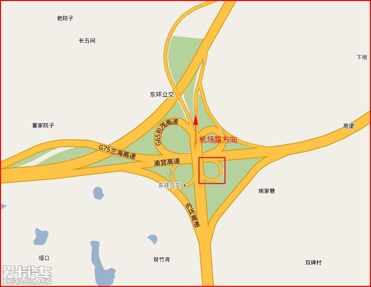 东环立交 上机场路的环道今天开始修路了,这两天大伙尽量择道而行!