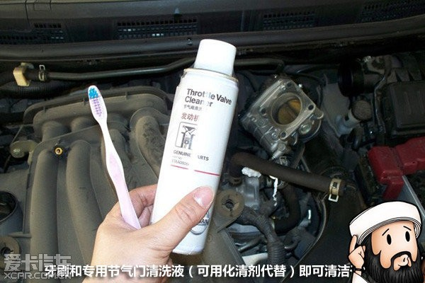如何自己动手清洁汽车的节气门高清图片