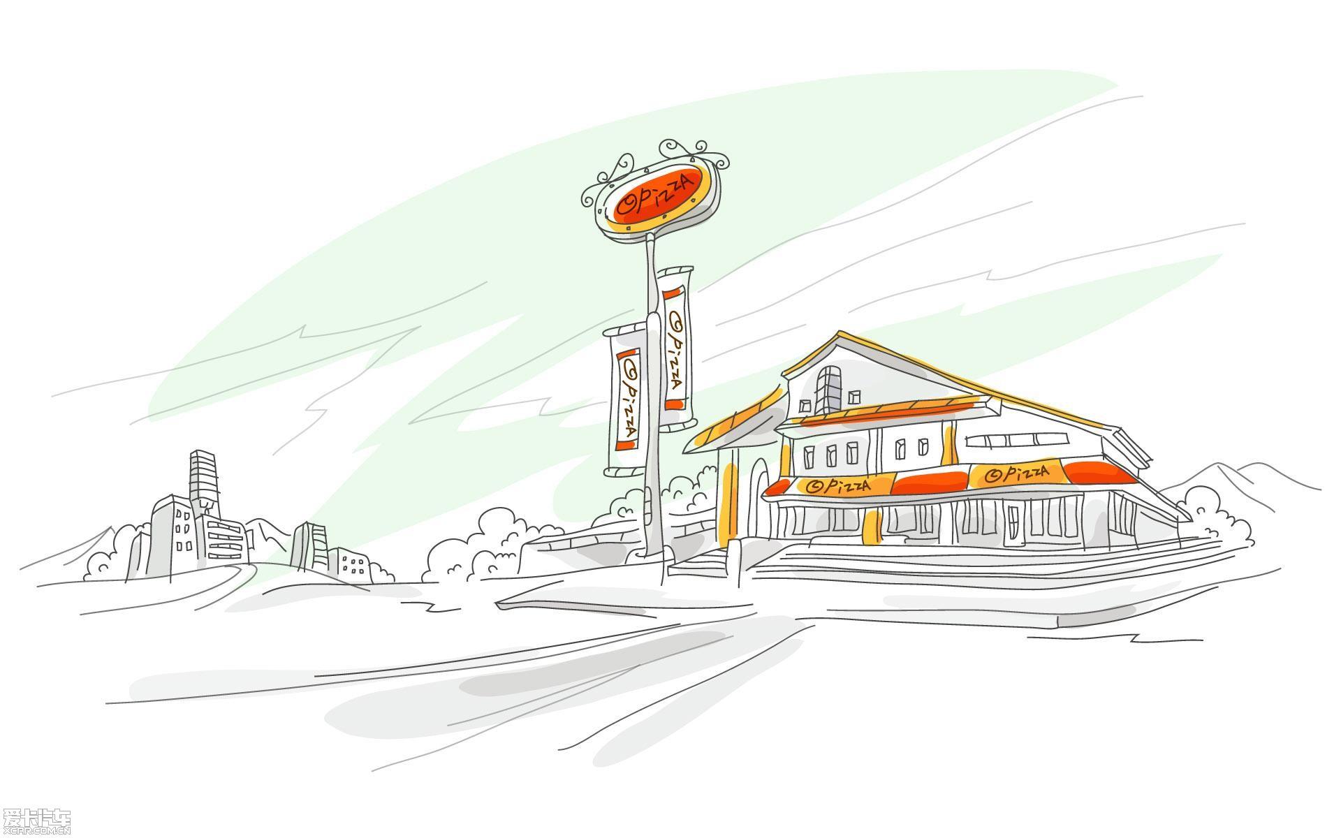 《手绘插图/线描简笔画-城市x未来科技》jpeg