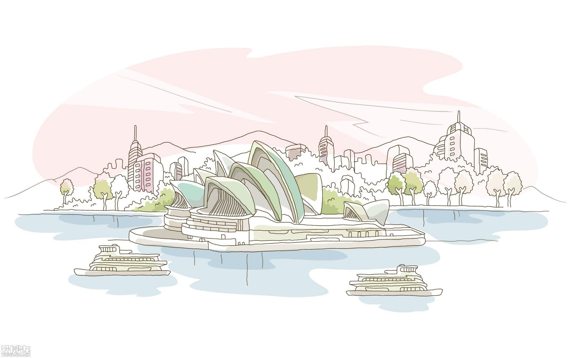 【精华】线描简笔画-城市