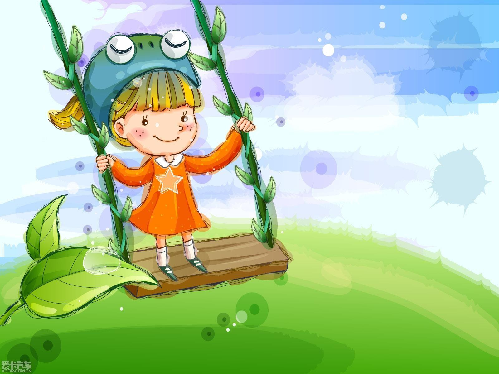 可爱简笔画手绘插图收藏happy childhood快乐童年