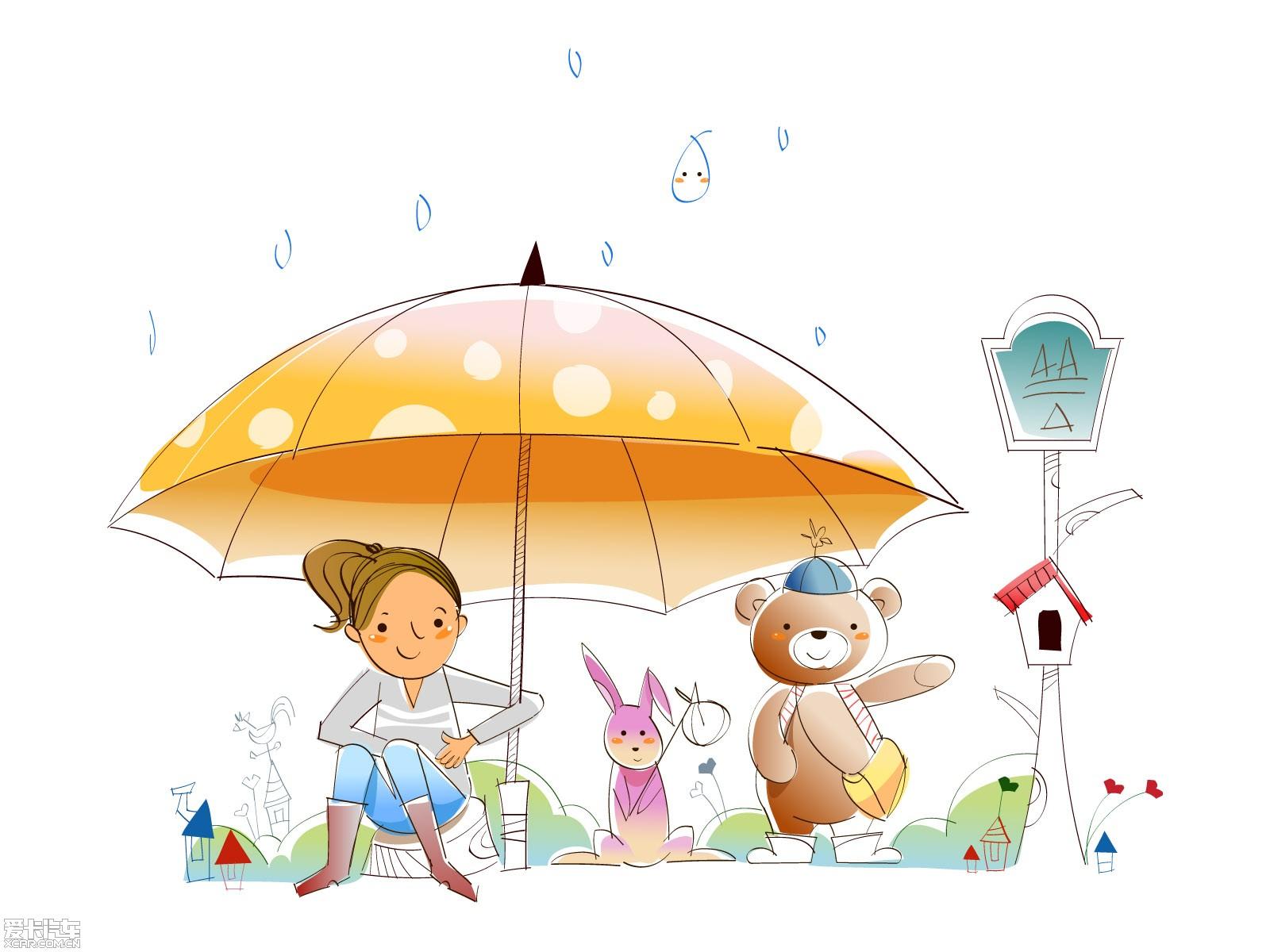 可爱简笔画手绘插图秋日童趣图片