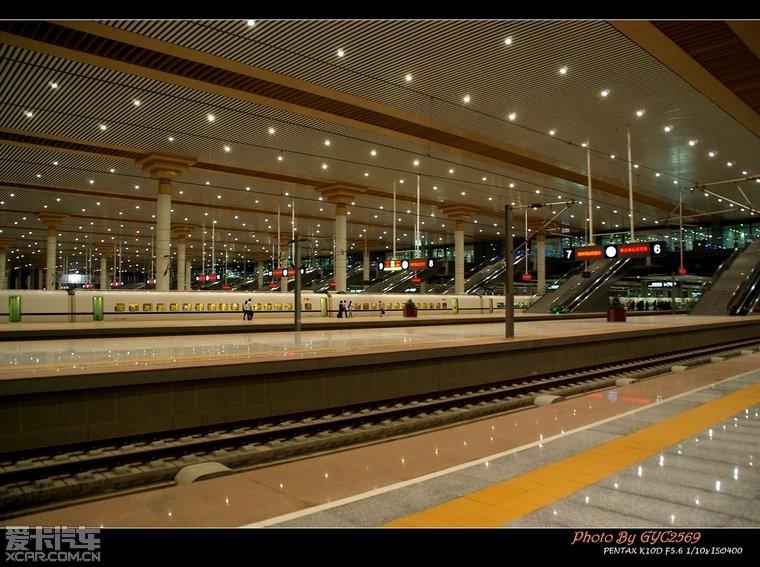 夜拍高铁南京南站.