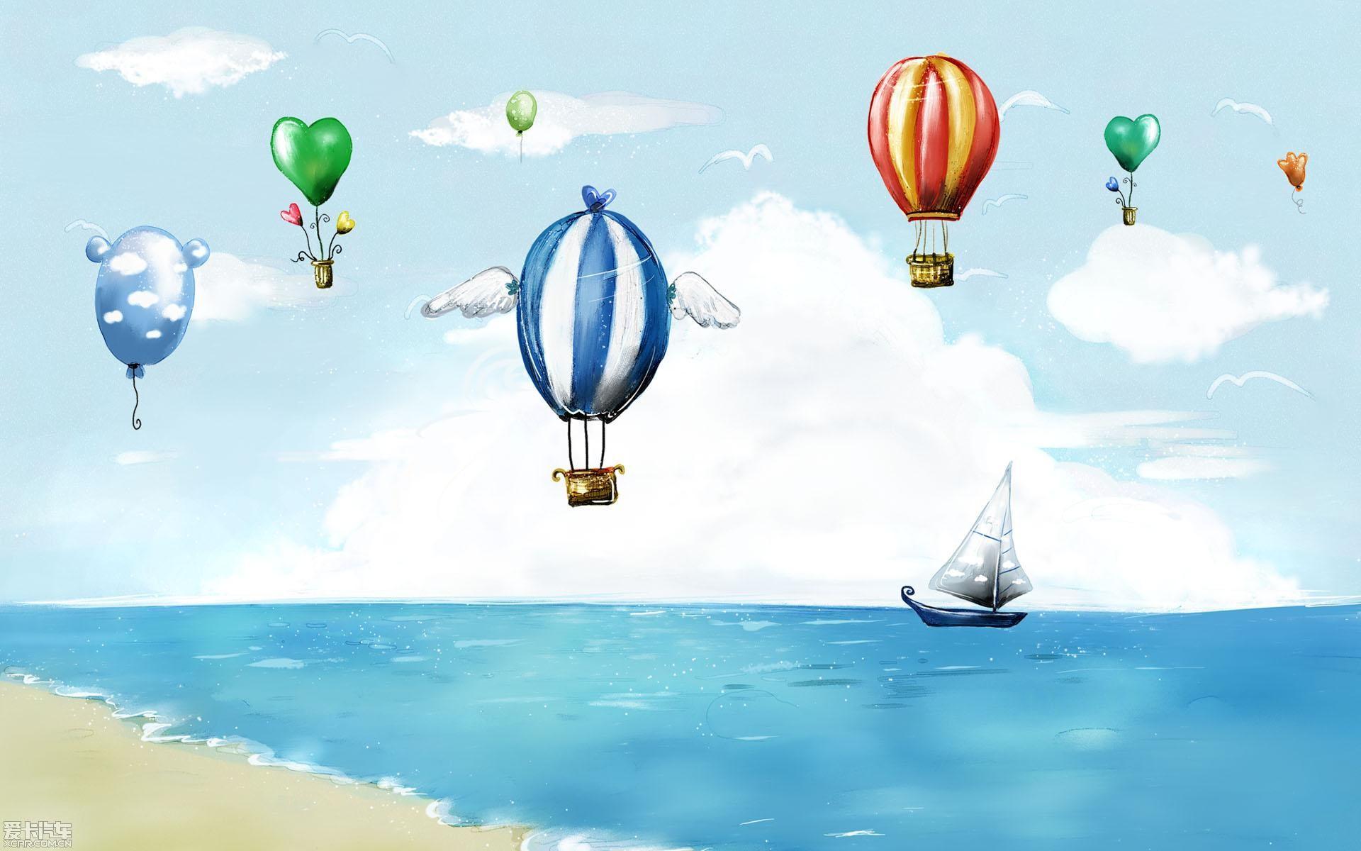 动漫 卡通 漫画 热气球 设计 矢量 矢量图 素材 头像 1920_1200