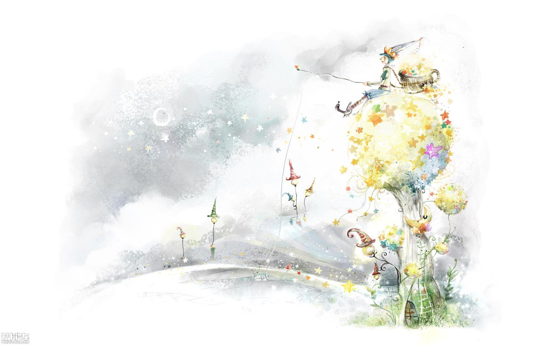 【精华】可爱的简笔插图-梦里的风景~~~