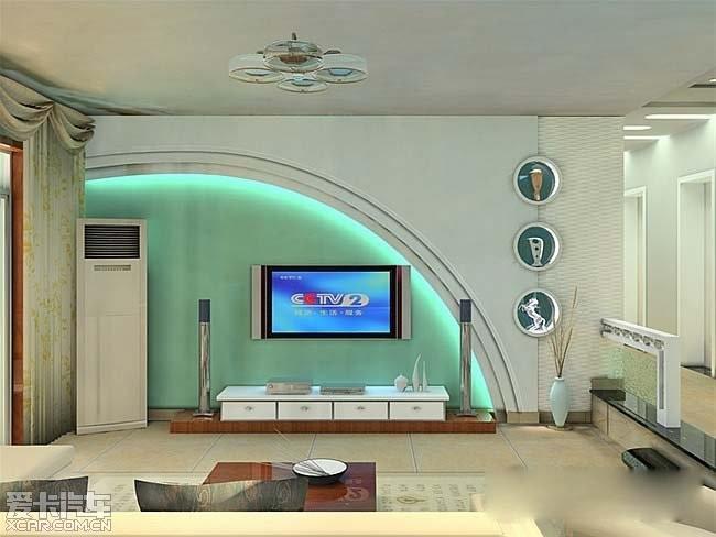 电视墙装修效果图 展现更给力的设计 创意家居 家居生活论