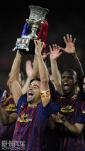 西甲超级杯-梅西2射1传C罗越位球巴萨3-2皇马夺冠