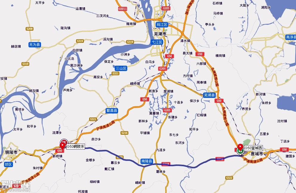 武汉到宜昌途径地图