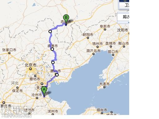 朝阳直行青岛高速路线图