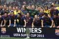 欧洲超级杯-梅西传射小法破门巴萨2-0四次夺冠