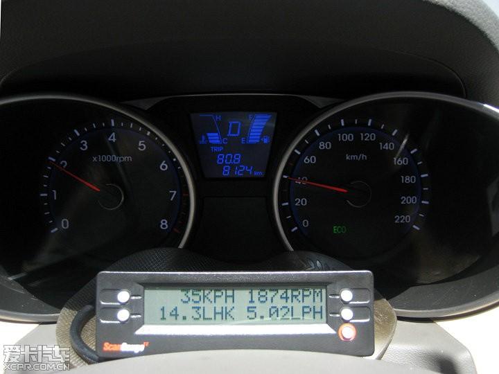ix35油耗_> ix35的实时油耗显示