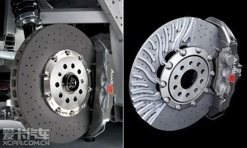 使用的刹车盘多为打孔通风盘,具有较好的冷却作用图片