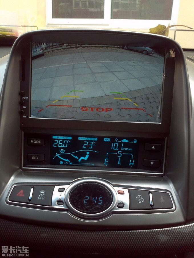 补交9.24新科帕奇安装导航,倒车影像和胎压监控的作业