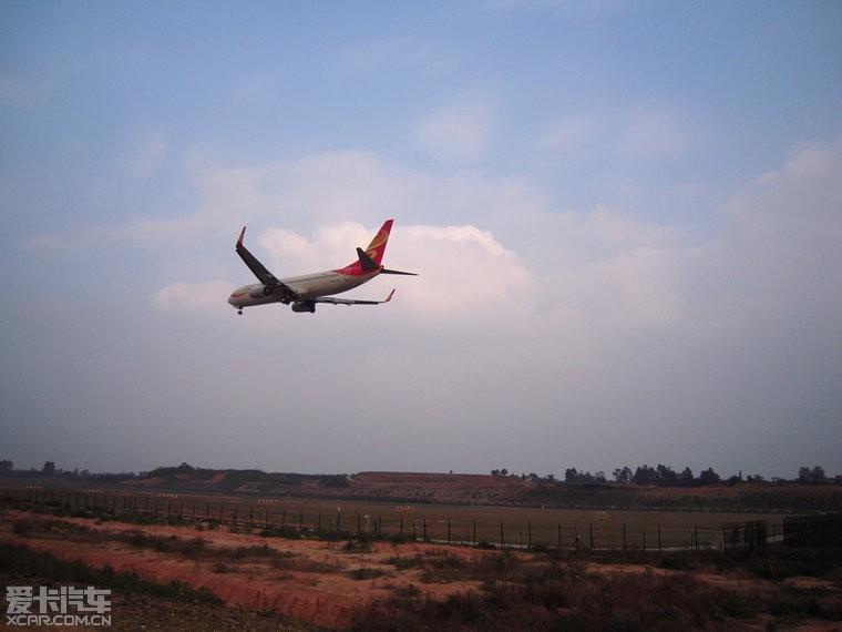 【图】双流机场第二跑道飞机降落照片