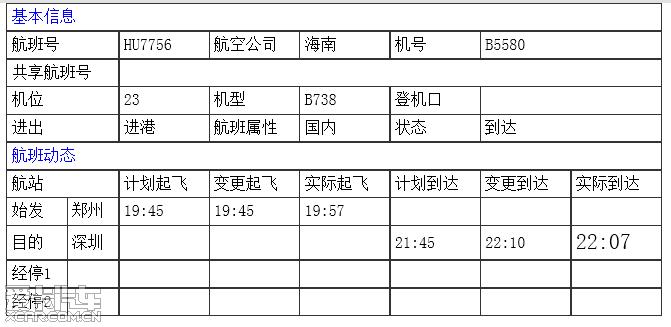 深圳机场排队进场的飞机(实时)