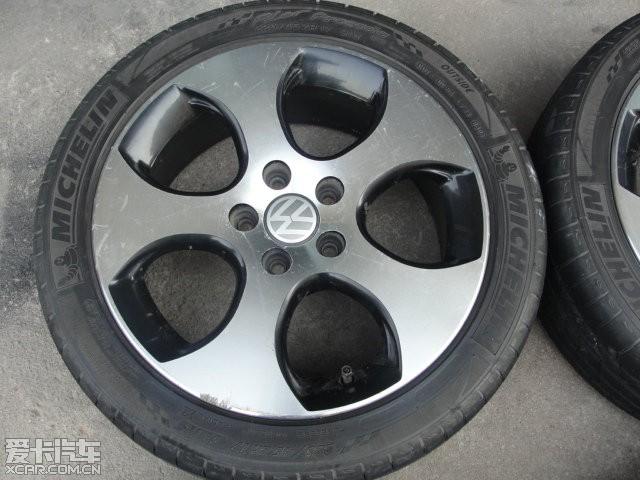 出一套战斧轮毂17寸加轮胎225 45 R17,成色8